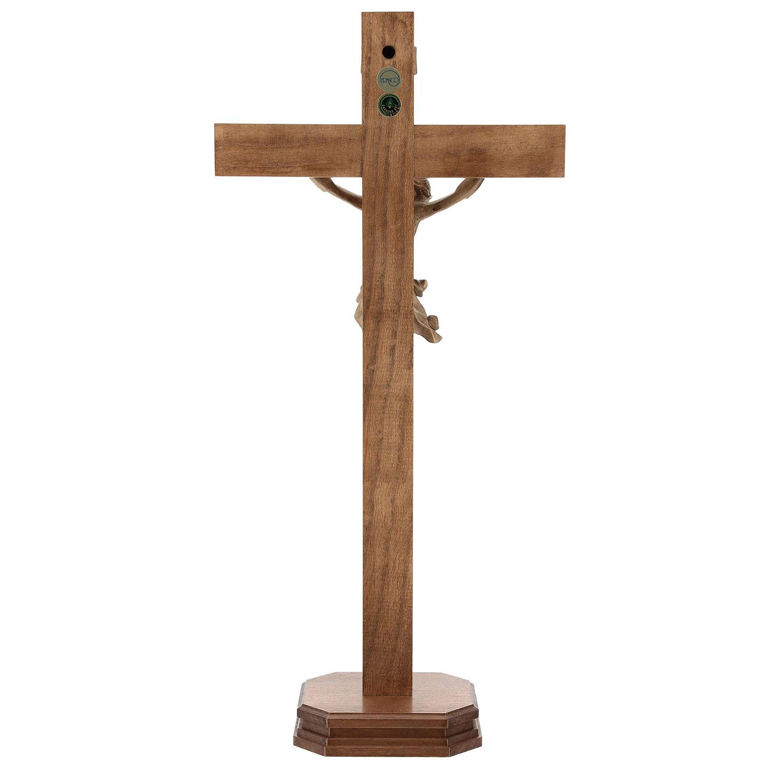 Croce da tavolo mod. Corpus legno Valgardena patinato 4