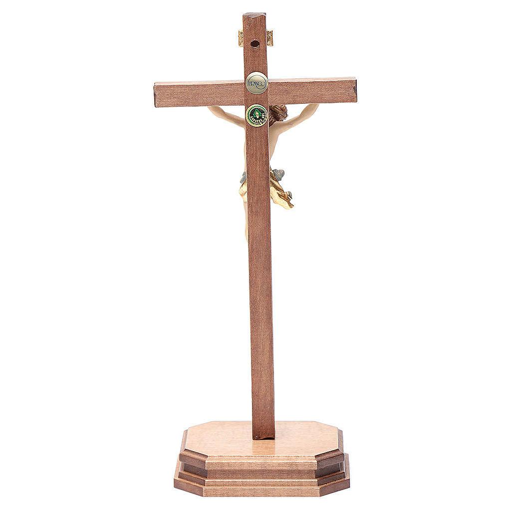 Croce da tavolo scolpito mod. Corpus legno Valgardena colorato 4