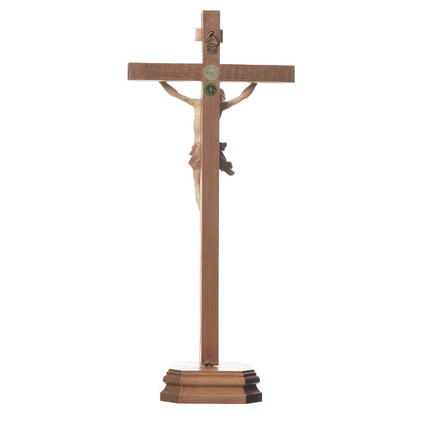 Cruz de mesa mod. Corpus madera Valgardena varias patinaduras 4