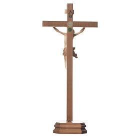 Cruz de mesa mod. Corpus madera Valgardena varias patinaduras s3