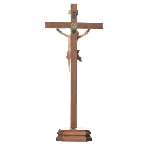 Sculpted table crucifix, Corpus model in multi-patinated Valgard 3