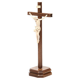 Croce da tavolo scolpito mod. Corpus legno Valgardena naturale c s2