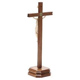 Croce da tavolo scolpito mod. Corpus legno Valgardena naturale c s3