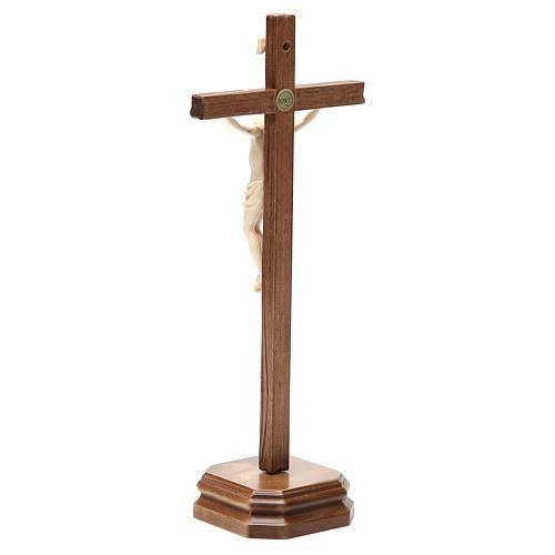 Croce da tavolo scolpito mod. Corpus legno Valgardena naturale c 3
