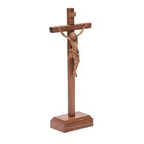 Croce da tavolo scolpito mod. Corpus legno Valgardena patinato s3