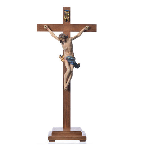 Corpus straight table cross, antique gold Valgardena wood 1