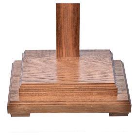 Crucifixo mesa cruz recta Corpus madeira Val Gardena Antigo Gold s6