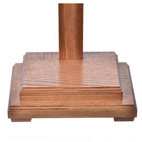 Crucifixo mesa cruz recta Corpus madeira Val Gardena Antigo Gold 18