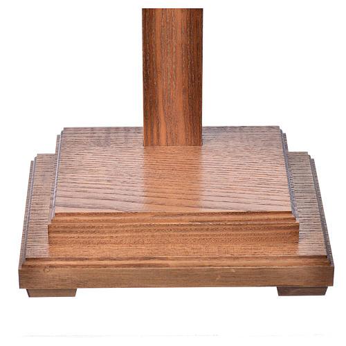 Crucifixo mesa cruz recta Corpus madeira Val Gardena Antigo Gold 6