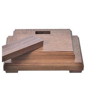 Corpus straight table cross, antique gold Valgardena wood s19