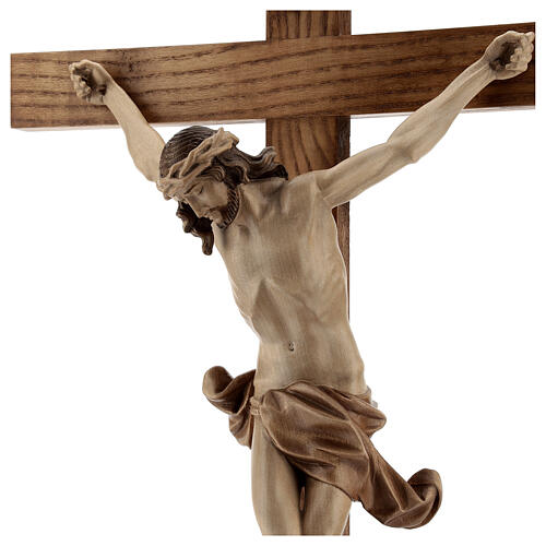 Crucifijo de mesa cruz recta Corpus Valgardena varias patinadura 6