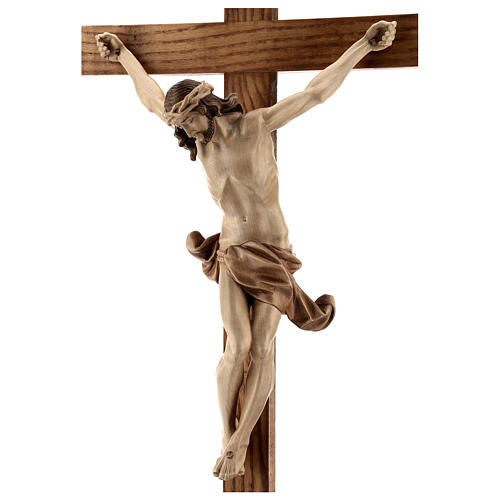 Crucifijo de mesa cruz recta Corpus Valgardena varias patinadura 8