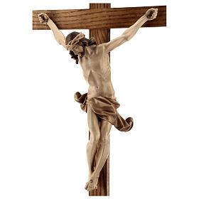 Crucifix à poser Corpus bois patiné multinuances Valgardena s8