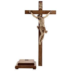 Crucifix à poser Corpus bois patiné multinuances Valgardena s10
