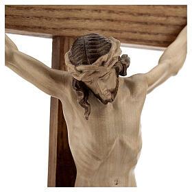 Crucifixo mesa cruz recta Corpus Val Gardena pátina múltipla s3