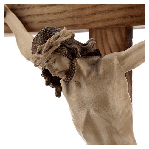 Crucifixo mesa cruz recta Corpus Val Gardena pátina múltipla 2