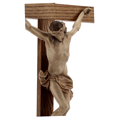 Crucifixo mesa cruz recta Corpus Val Gardena pátina múltipla 5