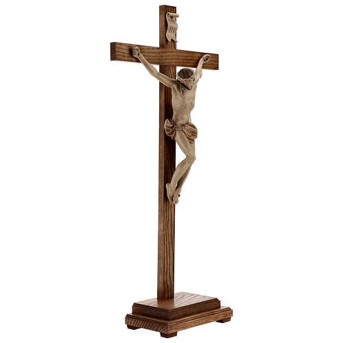 Crucifixo mesa cruz recta Corpus Val Gardena pátina múltipla 7