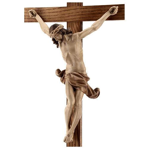 Crucifixo mesa cruz recta Corpus Val Gardena pátina múltipla 8