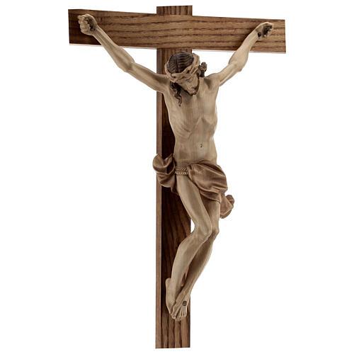 Crucifixo mesa cruz recta Corpus Val Gardena pátina múltipla 9