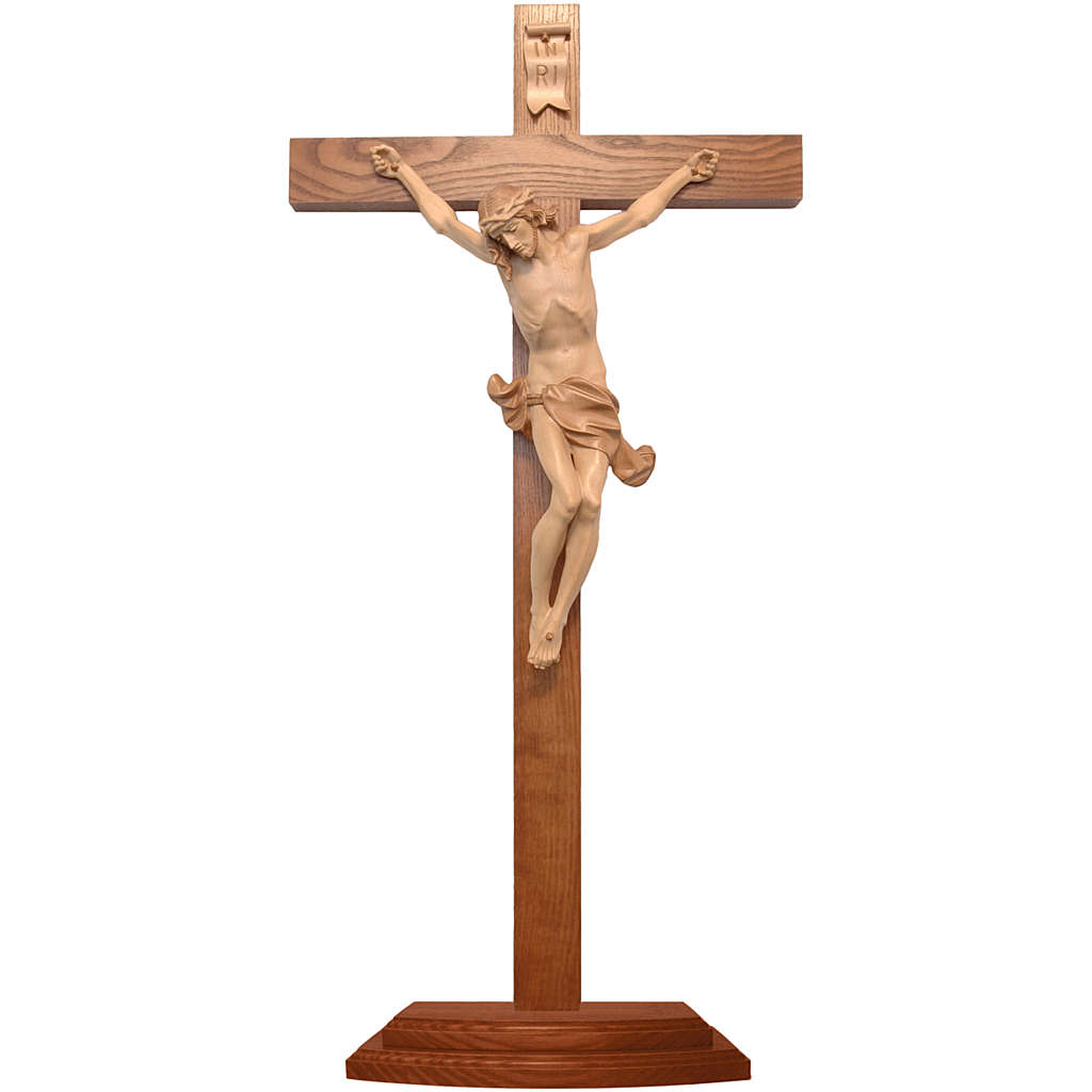 Corpus straight table cross, multi-patinated Valgardena wood 4