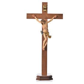 Corpus straight table cross, patinated Valgardena wood s7