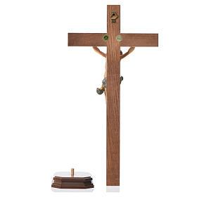 Corpus straight table cross, patinated Valgardena wood s10
