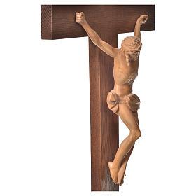 Corpus straight table cross, patinated Valgardena wood s13