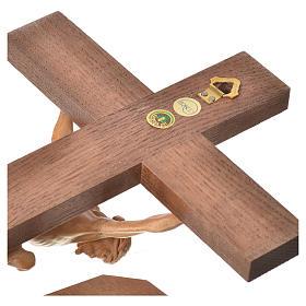 Corpus straight table cross, patinated Valgardena wood s15