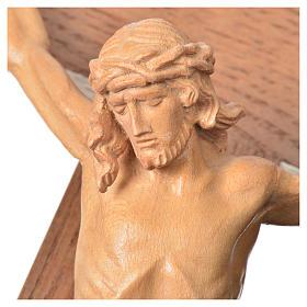 Corpus straight table cross, patinated Valgardena wood s16