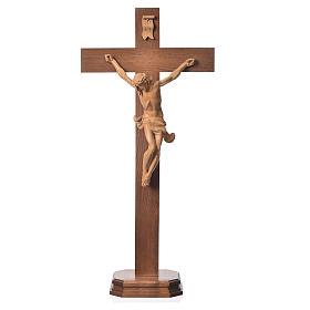 Corpus straight table cross, patinated Valgardena wood s1