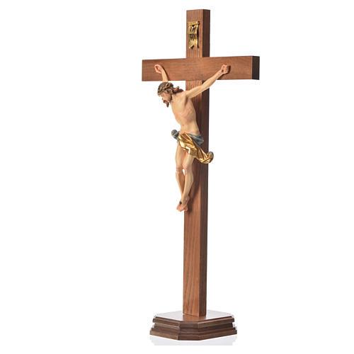 Corpus straight table cross, patinated Valgardena wood 8
