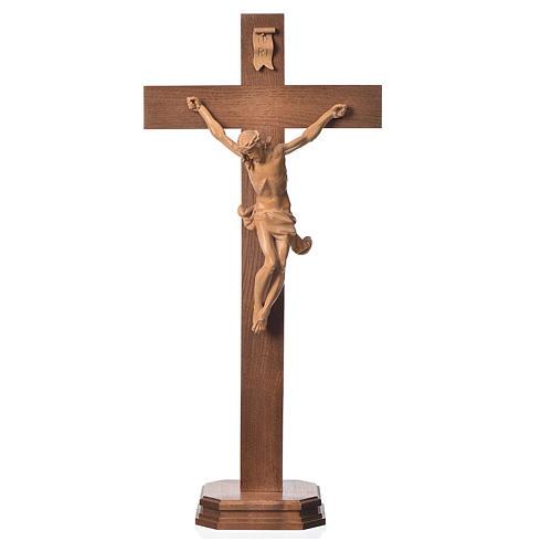 Corpus straight table cross, patinated Valgardena wood 1