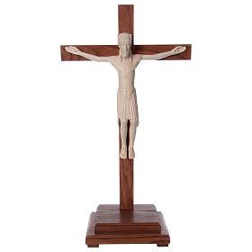Crocifisso da tavolo di Altenstadt 52cm Valgardena naturale cera s1