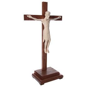 Crocifisso da tavolo di Altenstadt 52cm Valgardena naturale cera s4