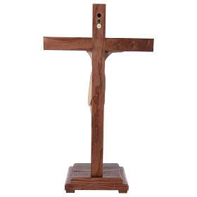 Crocifisso da tavolo di Altenstadt 52cm Valgardena naturale cera s5