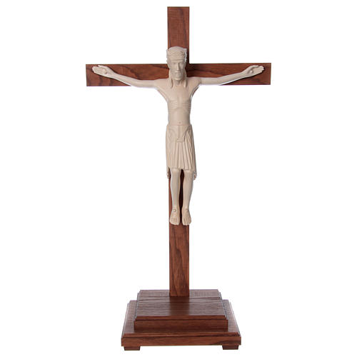 Crocifisso da tavolo di Altenstadt 52cm Valgardena naturale cera 1