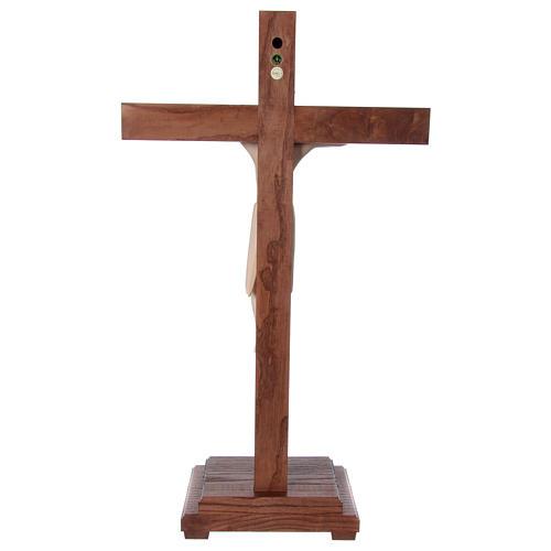 Crocifisso da tavolo di Altenstadt 52cm Valgardena naturale cera 5
