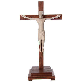 Standing crucifixes: Altenstadt crucifix with base, 52cm in Valgardena wood natural w