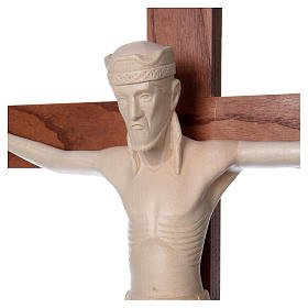 Altenstadt crucifix with base, 52cm in Valgardena wood natural w s2