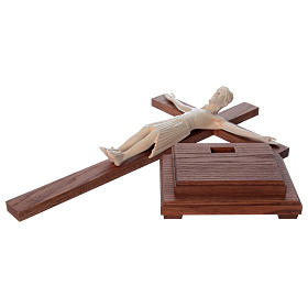 Altenstadt crucifix with base, 52cm in Valgardena wood natural w s6