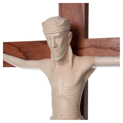 Altenstadt crucifix with base, 52cm in Valgardena wood natural w 2