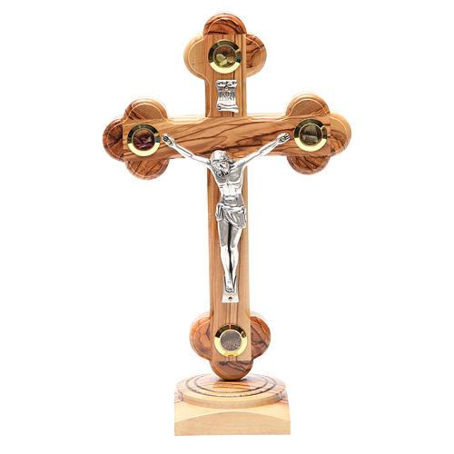 Trefoil table Cross palestinian wood 26cm 1