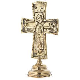 Crocefisso da altare Monaci di Betlemme Jesus Grand Prêtre ottone 30x20 s3