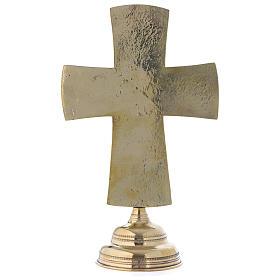 Crocefisso da altare Monaci di Betlemme Jesus Grand Prêtre ottone 30x20 s5