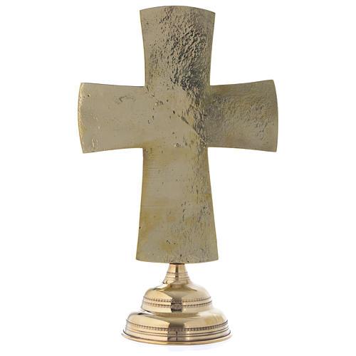 Crocefisso da altare Monaci di Betlemme Jesus Grand Prêtre ottone 30x20 5