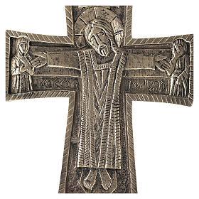 Krucyfiks ołtarzowy Mnisi Betlejemici Jesus Grand Prêtre mosiądz 30x20 s2