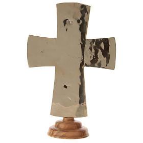 Krucyfiks ołtarzowy Mnisi Betlejemici Jesus Grand Prêtre mosiądz 30x20 s5