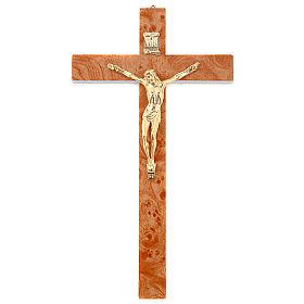Crucifix en bois de racine doré s1