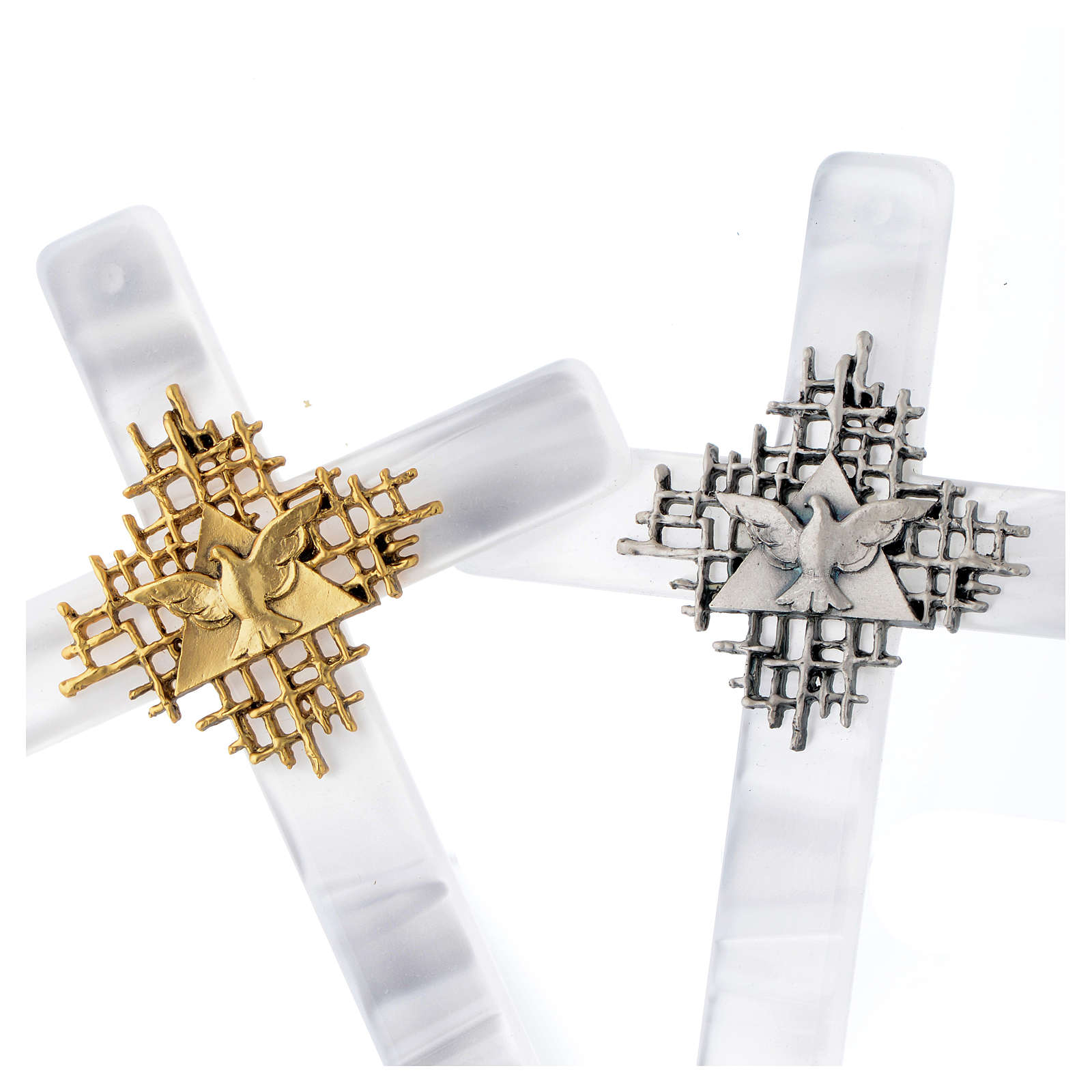 Holy Spirit cross in mother of pearl imitation 4